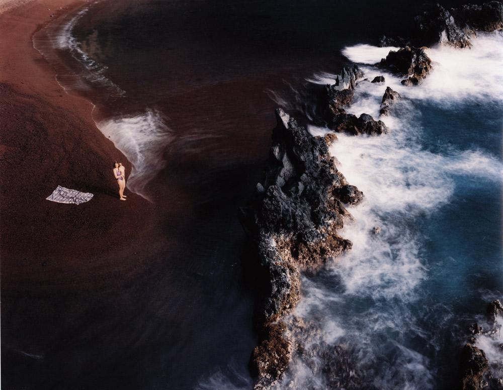 Kaihalulu (Red Sand) Beach, Kauiki, Maui,  1996