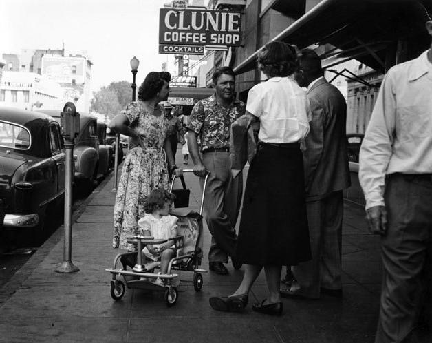 Street Conversation, Clunie Coffee Shop, Bay Area, 1952