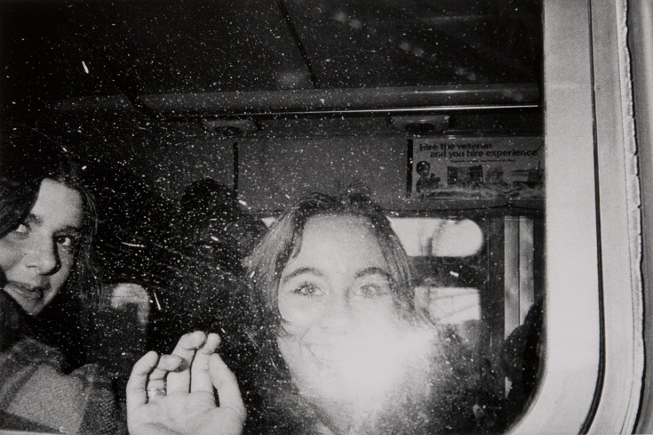 Untitled (girls' faces flashed in the bus window)                Mark Cohen—Philadelphia Museum of Art