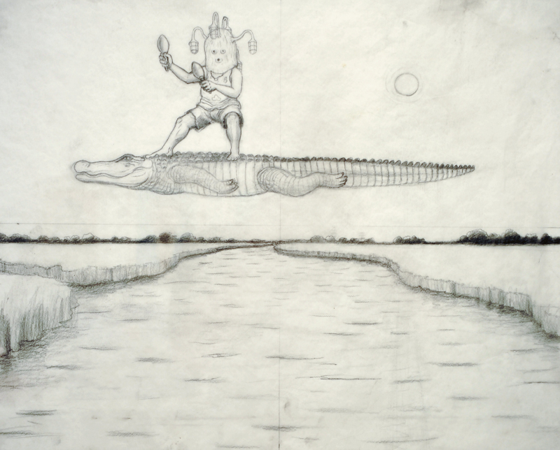 Steve Galloway, Riding  [Prep Drawing], 2008
