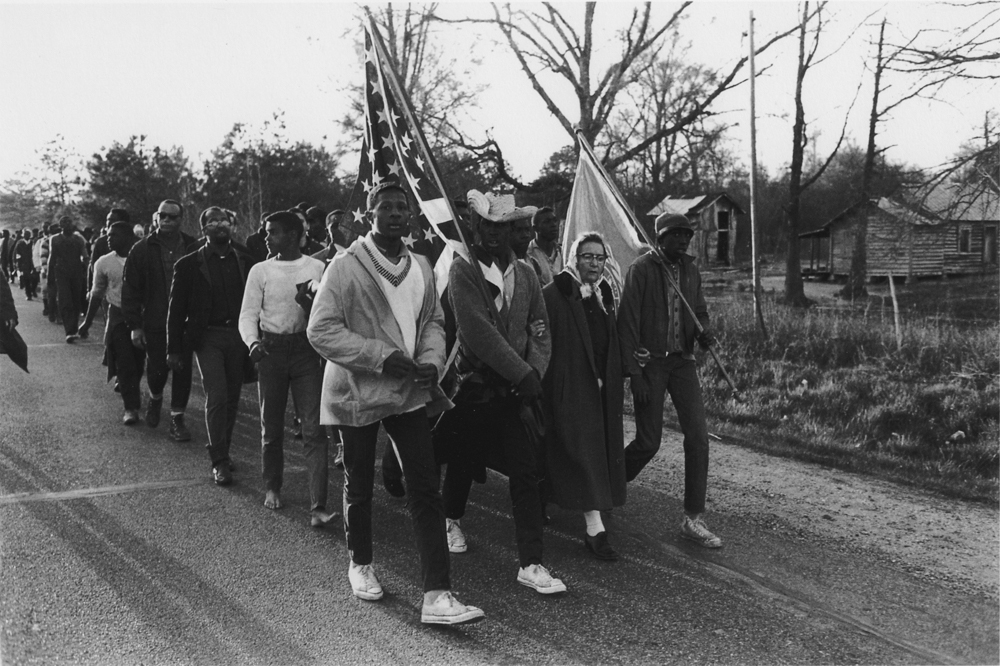 Bruce Davidson , Untitled , (Marchers with old woman), from Time of Change , 1961-65