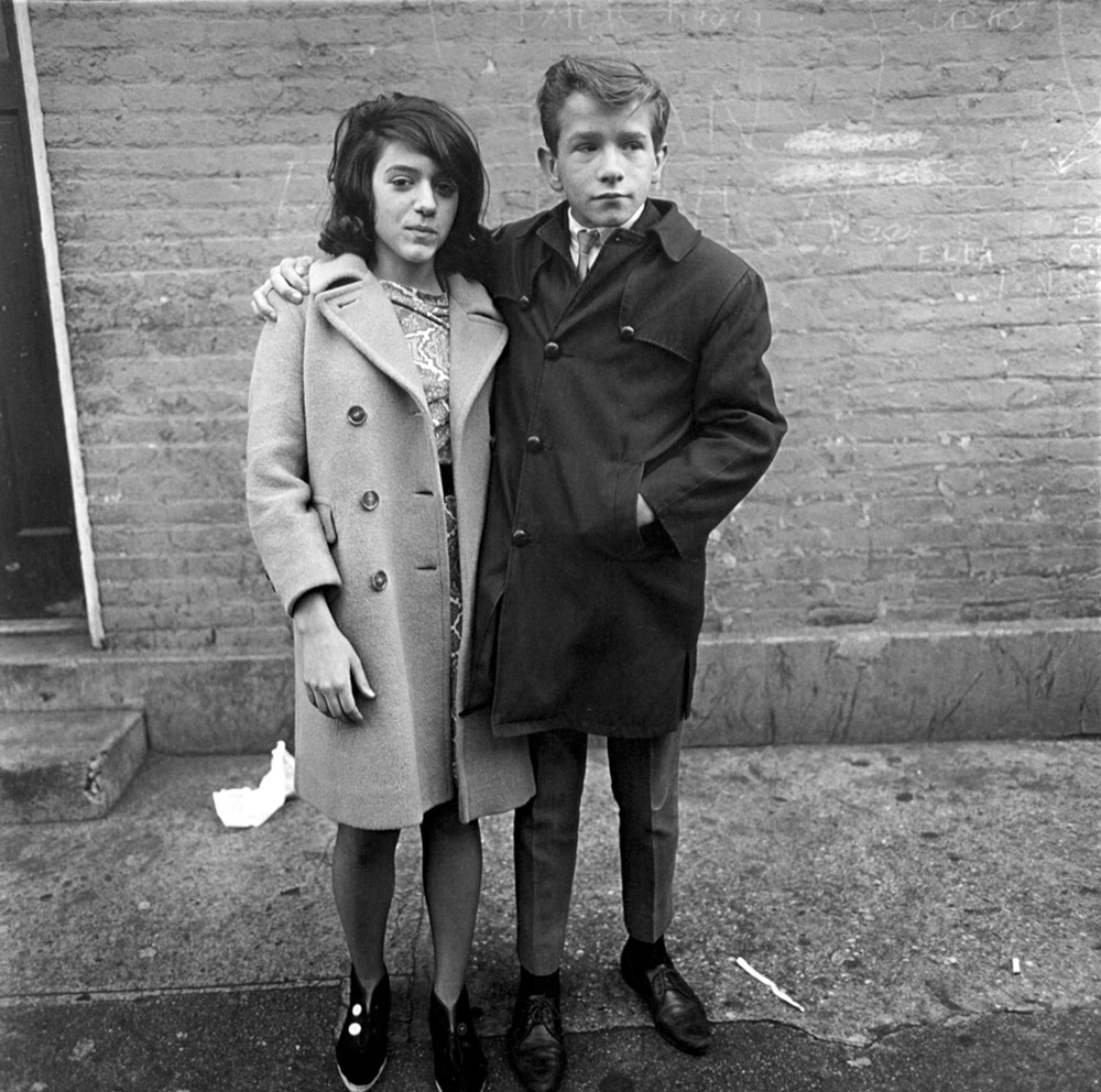 Diane Arbus ,  Teenage Couple on Hudson Street, NYC , 1963