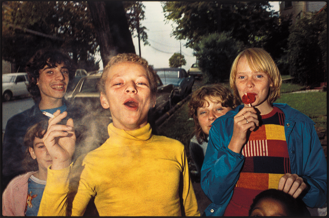Boy in Yellow Shirt Smoking , 1977