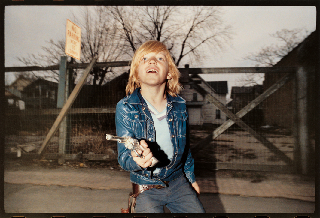 Flashed Boy in Blue Jacket With Six Shooter  , 1974.