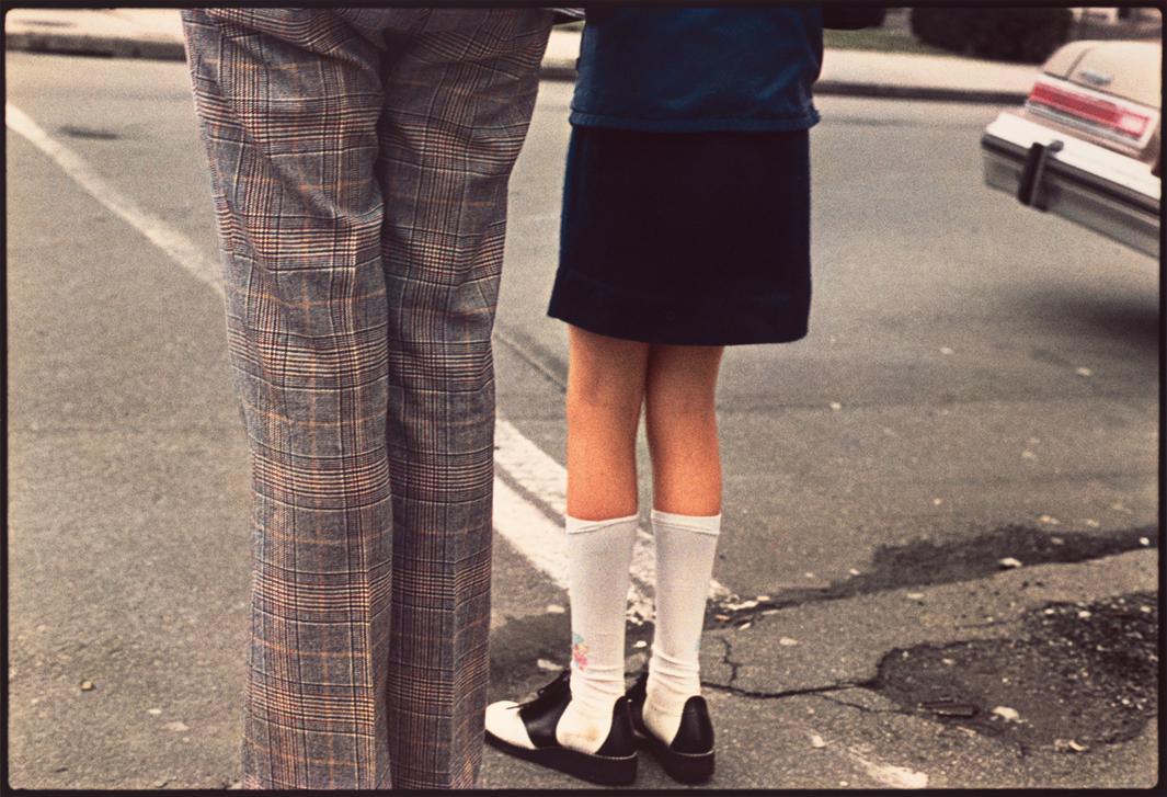 Girl and Man at Road  , 1975.