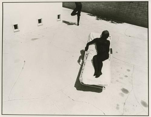 Jo AnnCallis,   Black Sun Picture #8   , 1976 8 x 10 inch Vintage Gelatin Silver print