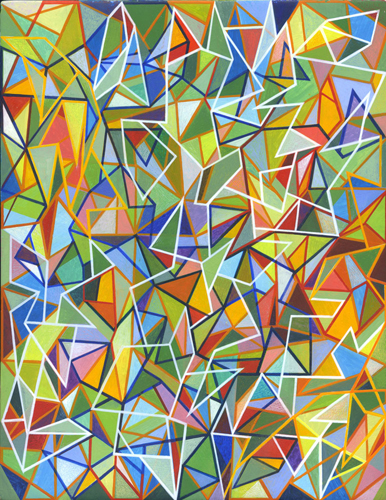 Shaun McCracken,    Untitled     #334   , 2015 Egg tempera on panel,10 x 8 inches