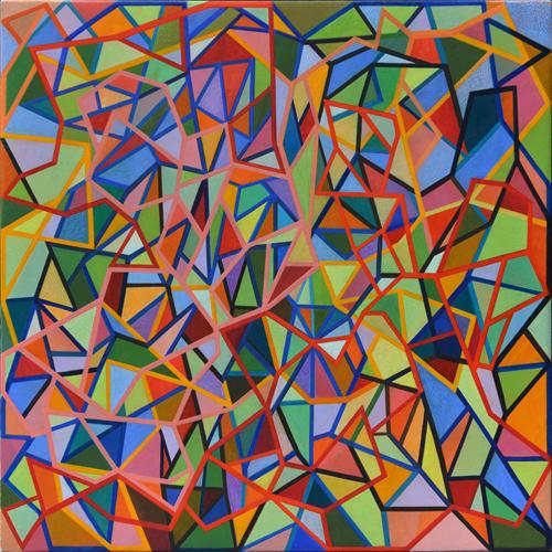 Shaun McCracken,    Untitled #346   , 2015 Egg tempera on panel,12 x 12 inches