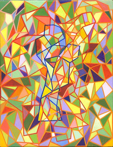 Shaun McCracken,    Untitled     #347   , 2015 Egg tempera on panel, 10 x 8 inches