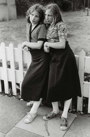 Mark Cohen,  Two Young Women at Fence , 1975