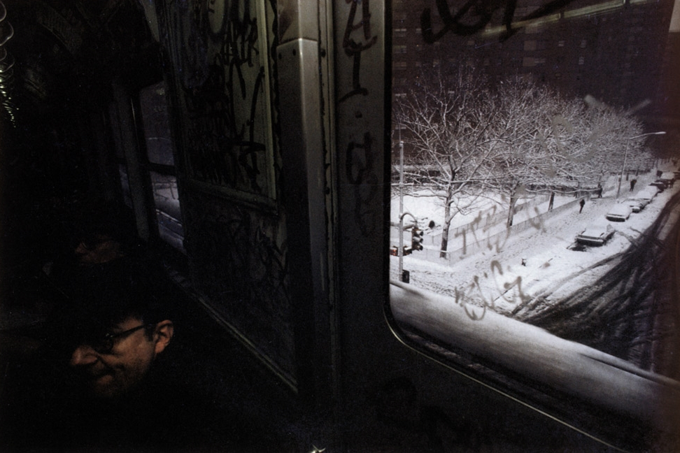 Untitled ( Snowy street through window), early 1980s Dye Transfer Print 20 x 24 inches