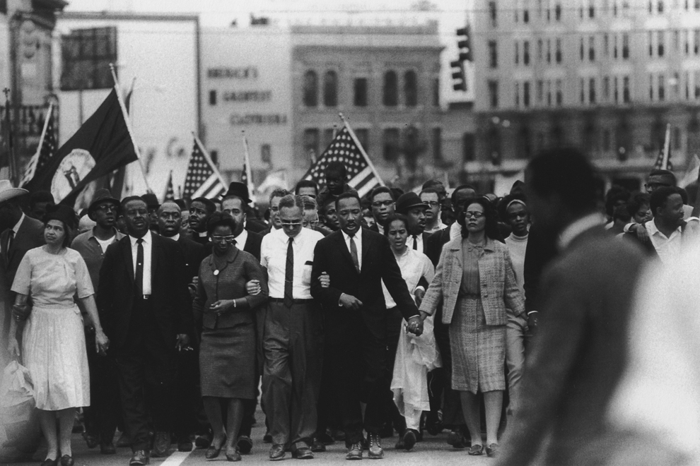 Untitled  (MLK marching), 1961-1965 Silver Gelatin Print 11 x 14 inches