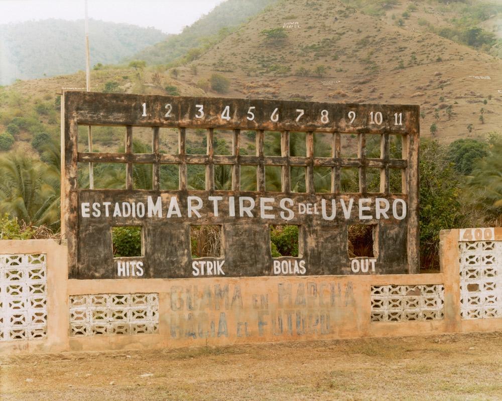 Baseball Scoreboard, Estadio Mártires del Uvero,  2002 C-print 20 x 24 inches