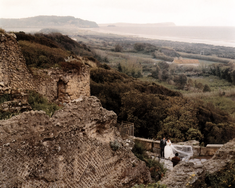 Wedding Photograph Near a Roman Temple at Cumae, Campi Flegrei, Italy , 1994