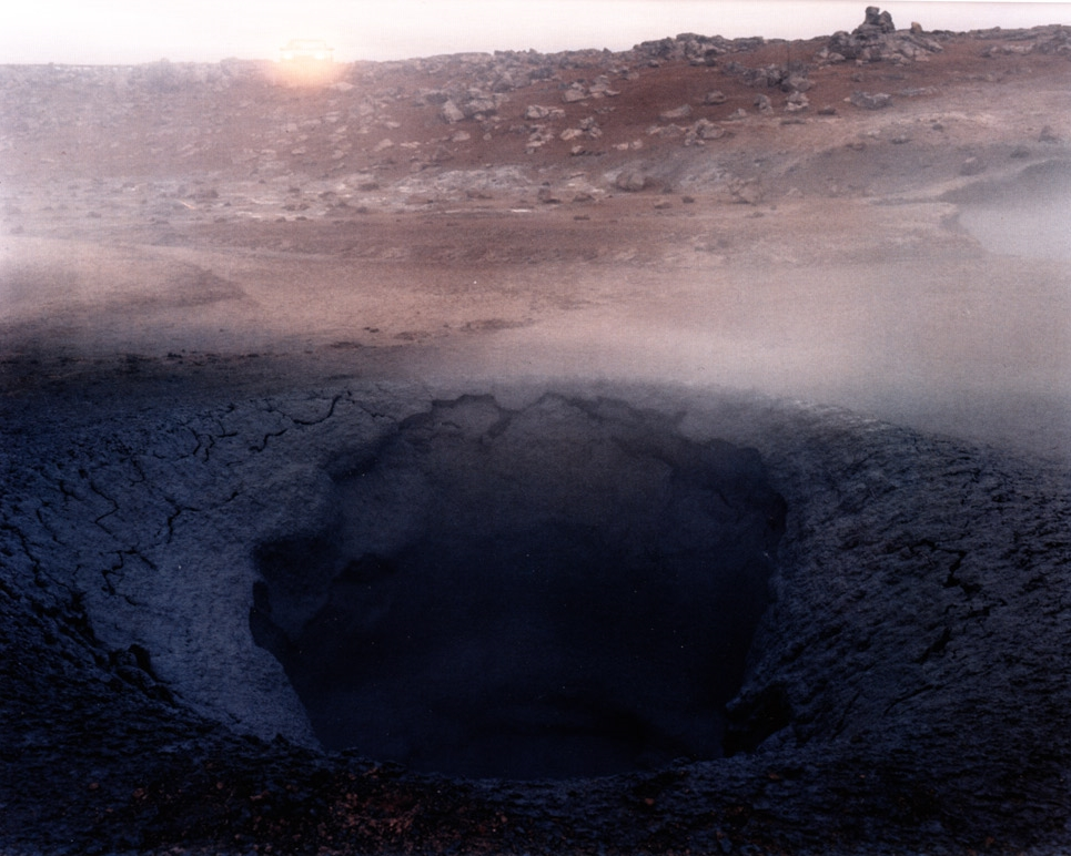 Boiling Mud Pot with Headlights, Namaskard, Iceland,  1988
