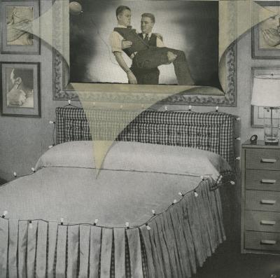 Ken Graves,  A Prolonged Childhood , unique photo collage, c. 1990