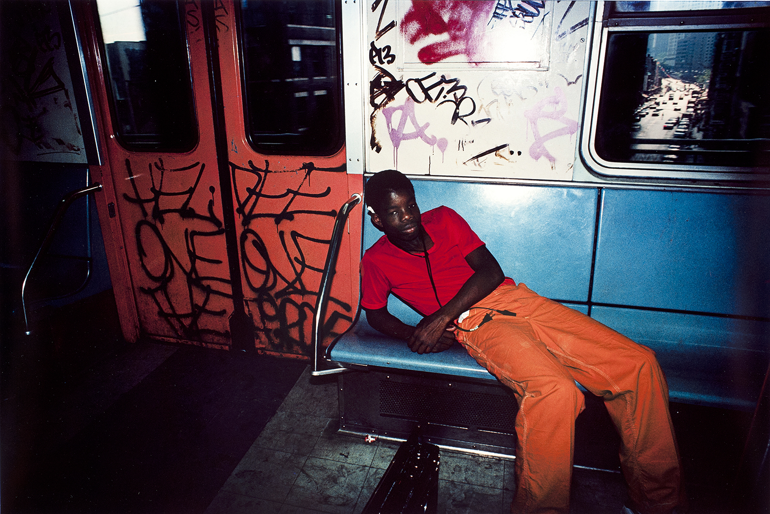 Bruce Davidson  Untitled , from the series  Subway , New York, C. 1980s  20 X 24 Dye transfer print Rose Shoshana Collection
