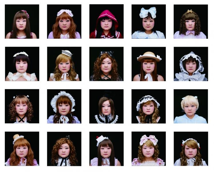Tomoko Sawada  Decoration/ Face , 2007 (20) 2.5 x 2.5 inch Lambda prints