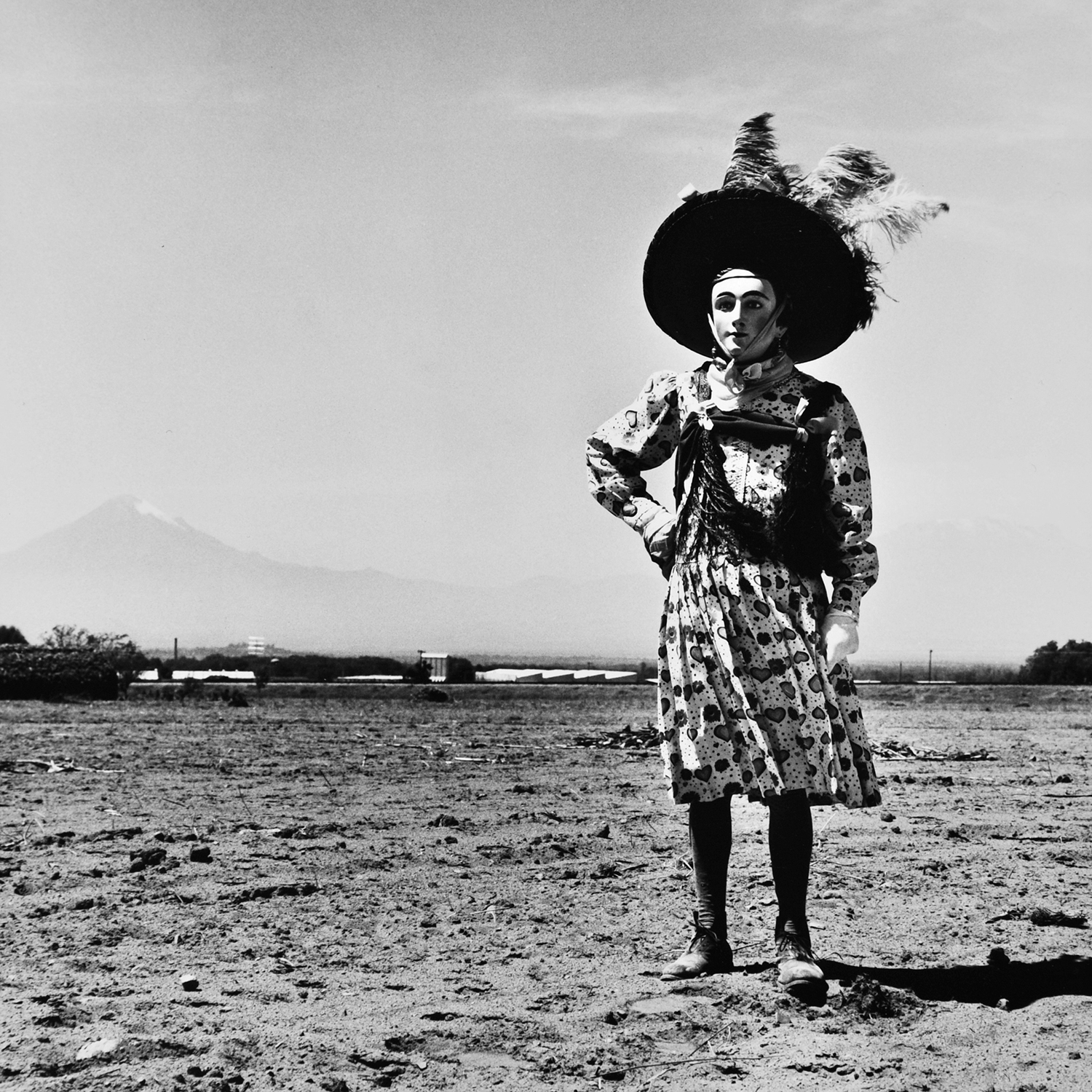 Graciela Iturbide  Carnaval,  Tlaxcala, México, 1974 Sheet: 14 x 11 inches / Image: 9.4 x 9.25 inches Silver Gelatin Print Illustrated in:  Sueños de papel , 1988, cover;  Images of the Spirit , 1996, page 5