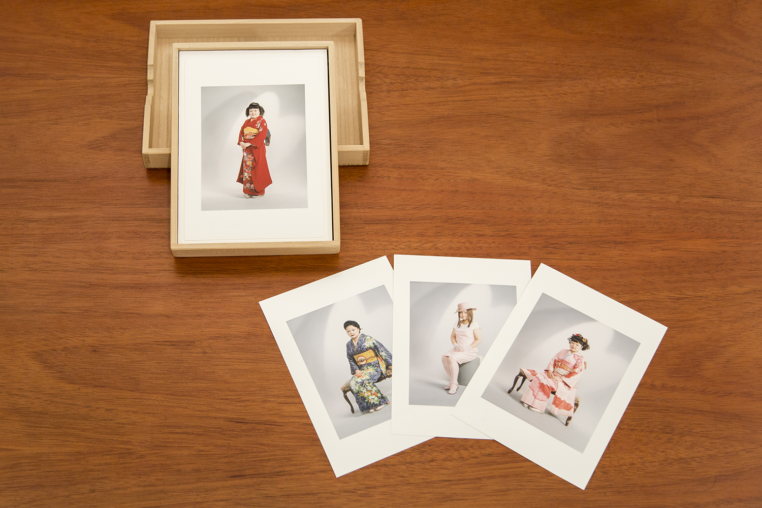 Tomoko Sawada  Omiai  - Box Version: set of 30 color photographs in custom made box, 2006 Thirty 7 x 5 inch Chromogenic Prints Signed and editioned by the artist in ink on verso From a limited edition of fifteen From the collection of the artist All pictures illustrated in:  OMIAI , Seigensha, 2005