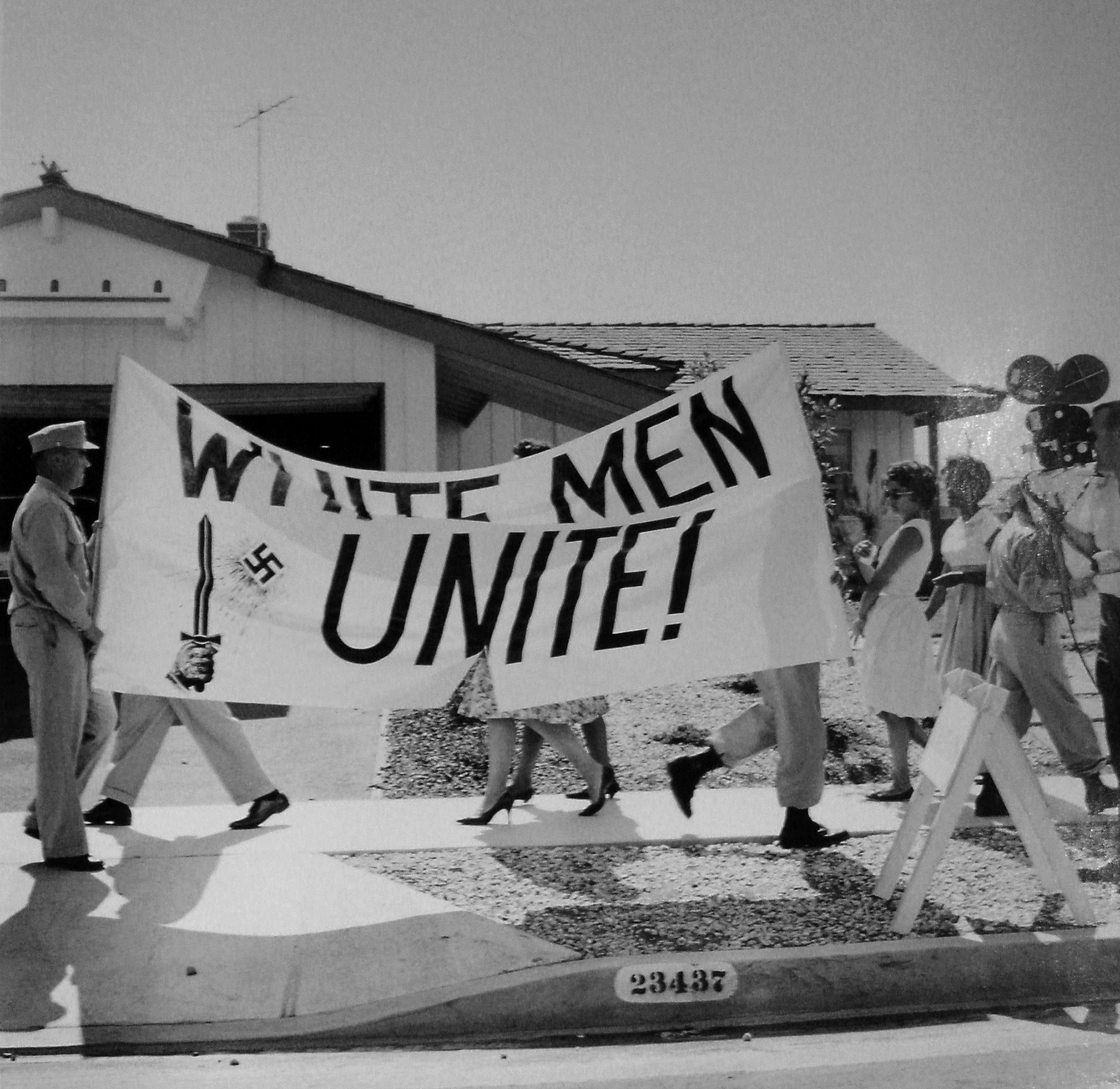 Charles Brittin  Untitled (Civil Rights Demonstration), Torrance, CA,  c. 1962  16 x 20 inches  Silver Gelatin Print
