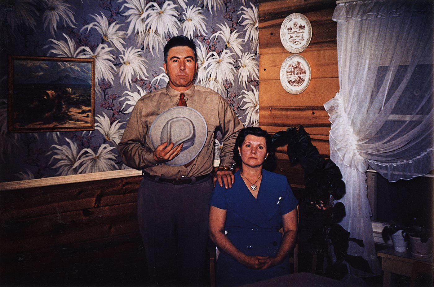 Guy Stricherz  Americans in Kodachrome 1945-1965  Dakota Couple, Rapid City, South Dakota , 1953  Photographer: Guy Van Nice  16 x 20 inches Dye Transfer Print