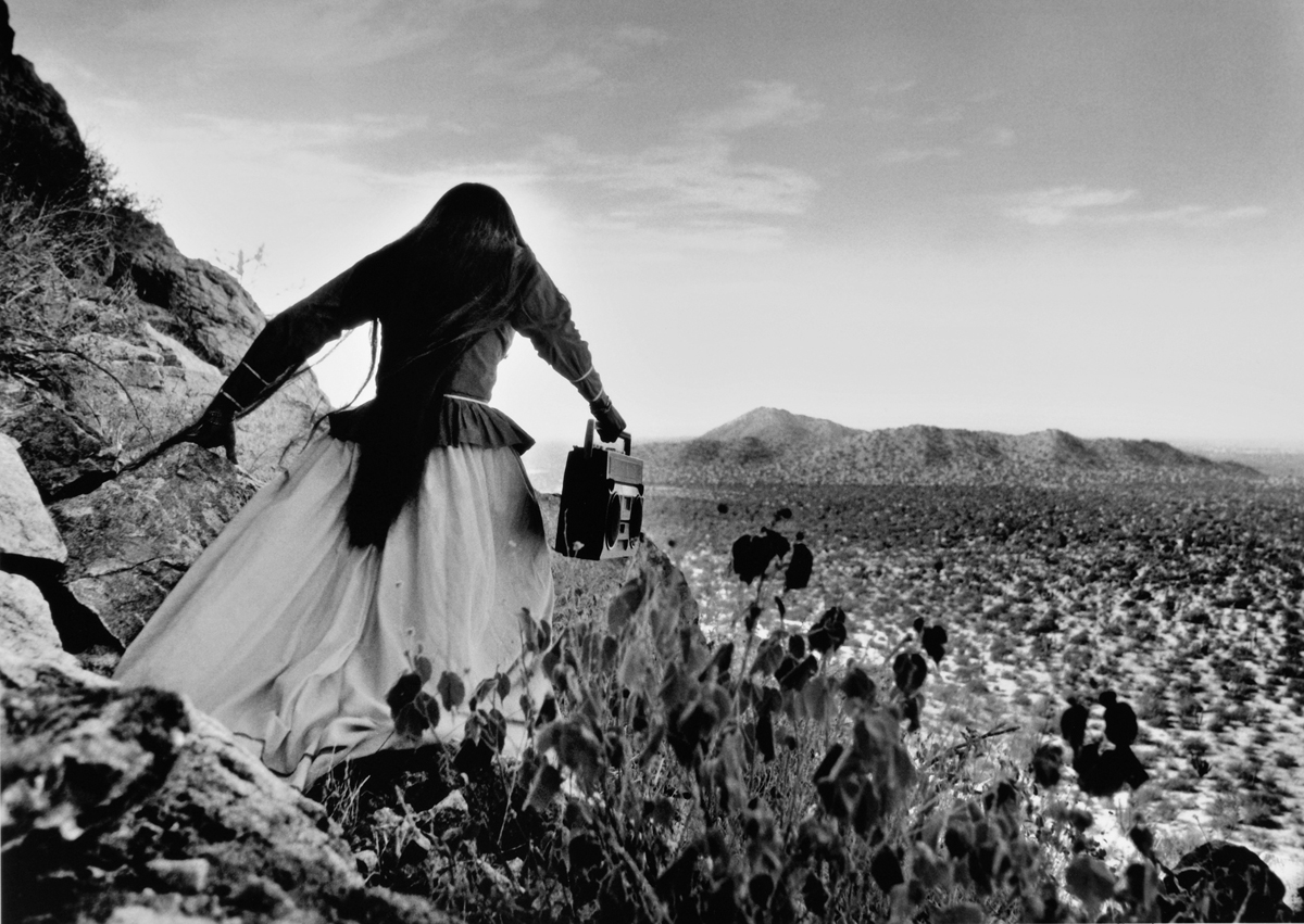 Mujer Angel, Sonora Desert , 1979  20 x 24 inch Silver Gelatin Print