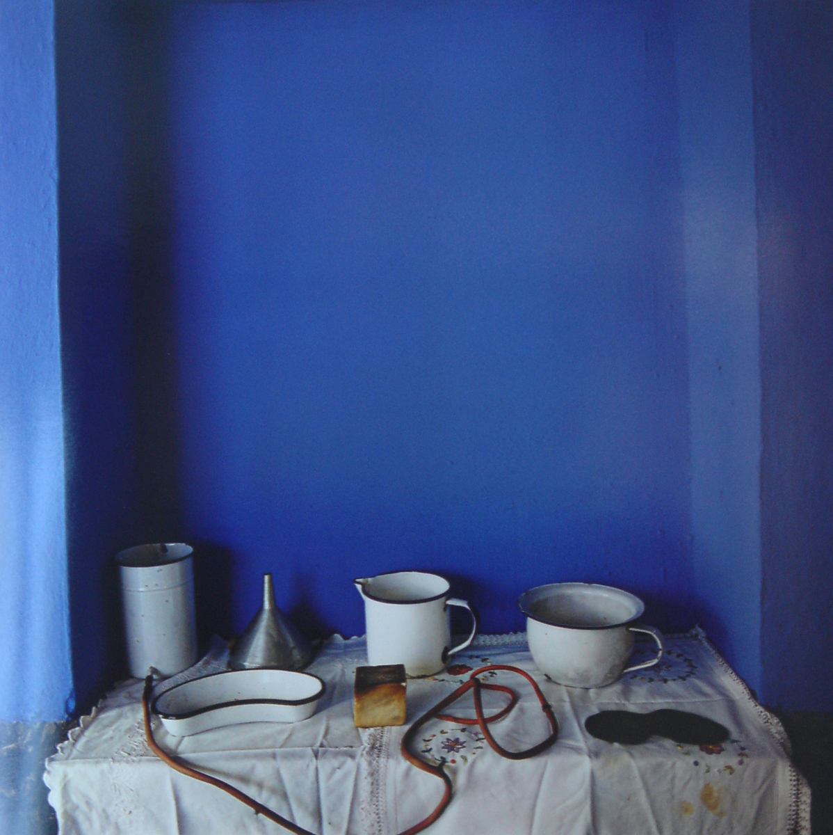 Casa de Frida Kahlo (E) , 2005  Sheet 17 x 14 inches / Image 12 x 12 inches  Dye Transfer Print