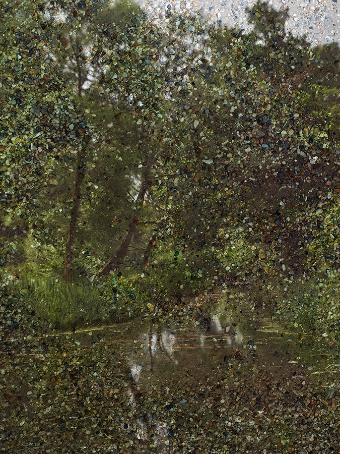 """Copy of Tent-Camera Image: Constable's """"Hay Wain"""" View. Flatford, England, 2017"""