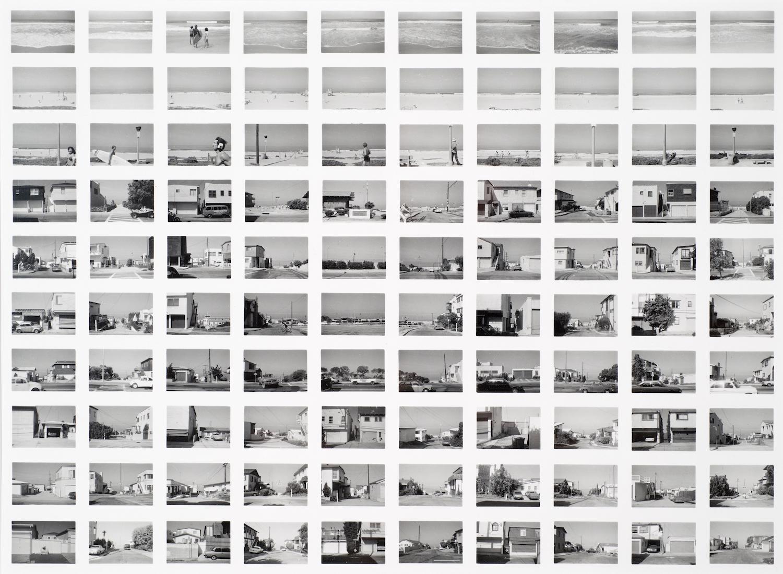 Robbert Flick    SV014/80 Manhattan Beach, Looking West from Vista , 1980  20 x 24 inch Vintage Gelatin Silver Print