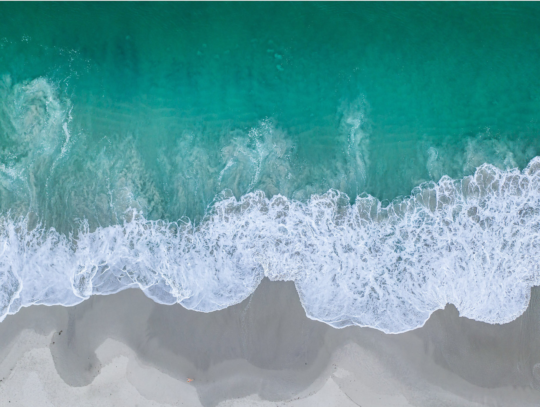 David Ondaatje   Carmel Beach #5 Runner  44 x 34 inch Archival Pigment Print