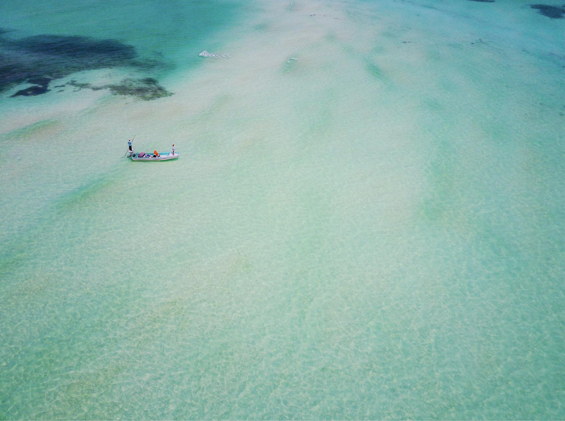 David Ondaatje   Tarpon Flat, Long Cay, Belize  62.5 x 48 inch Archival Pigment Print