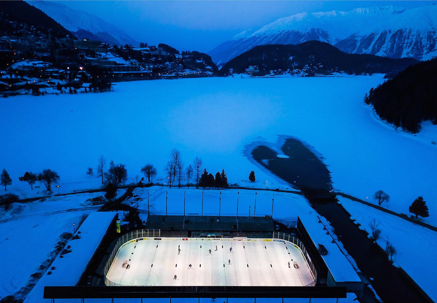 David Ondaatje   The Varsity Match, St. Moritz, Switzerland  47.5 x 34 inch Archival Pigment Print