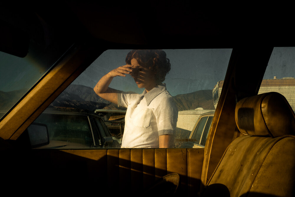 Tania Franco Klein,  Car, Window  (Self-portrait), from  Proceed To The Route , 2018