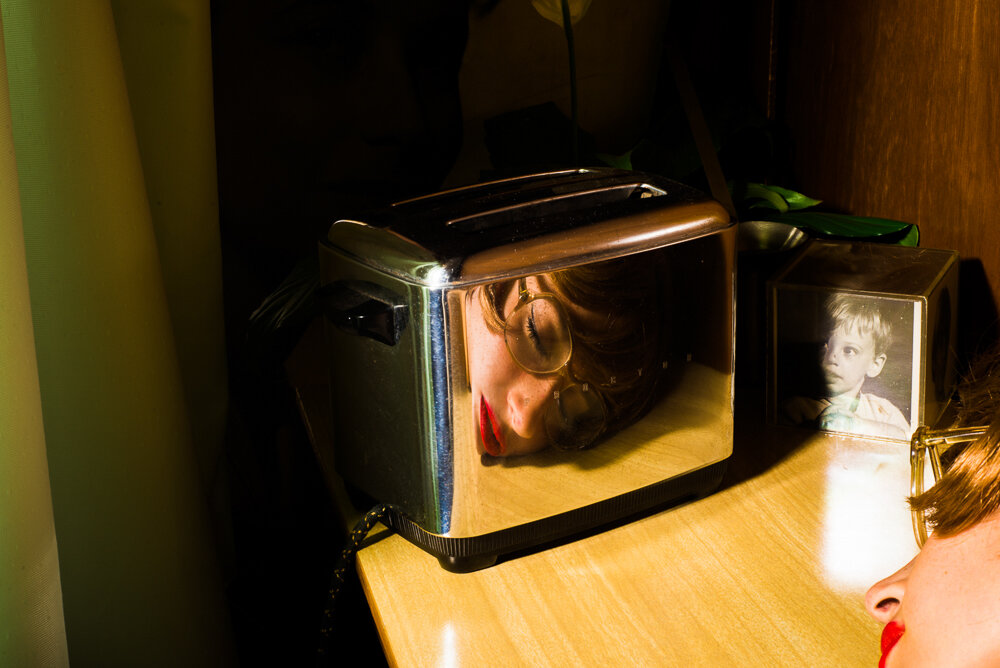 Tania Franco Klein,  Toaster  (Self-portrait), from  Our Life in the Shadows , 2016