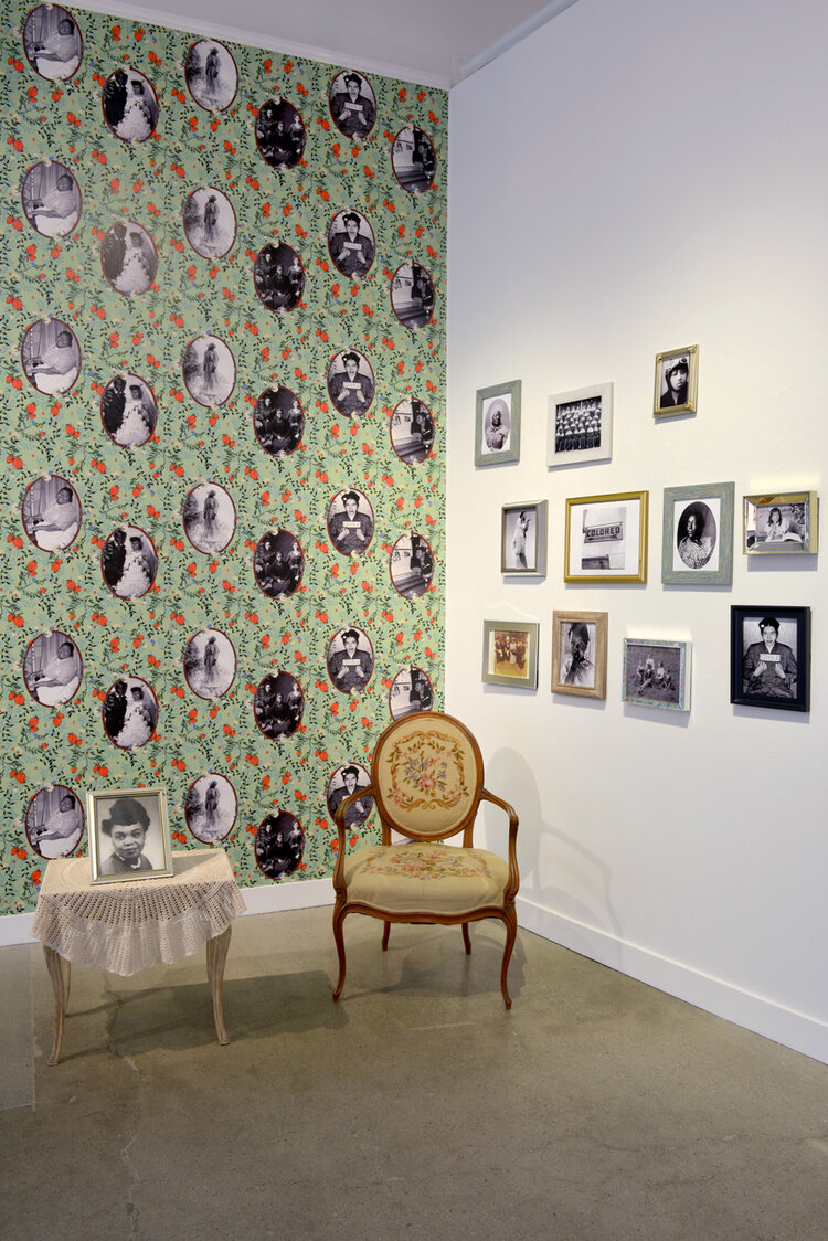 Installation view of  Bitter Earth  by Carla Jay Harris and Brenda E. Stevenson in   REMEMBRANCE   at ROSEGALLERY