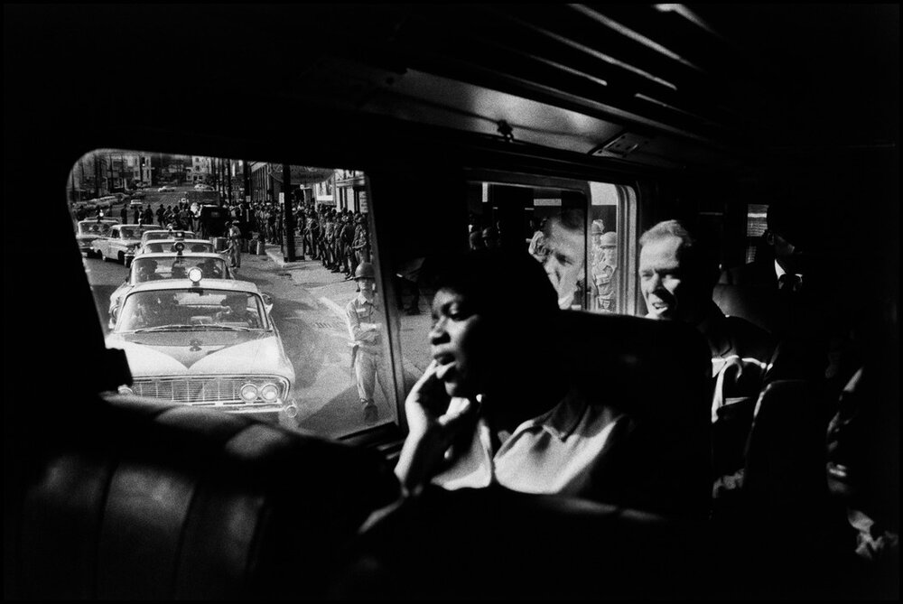 Bruce Davidson,  Freedom Riders, Montgomery, Alabama,  1961