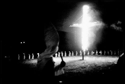Bruce Davidson, Klu Klux Klan Meeting outside of Atlanta, GA, 1962