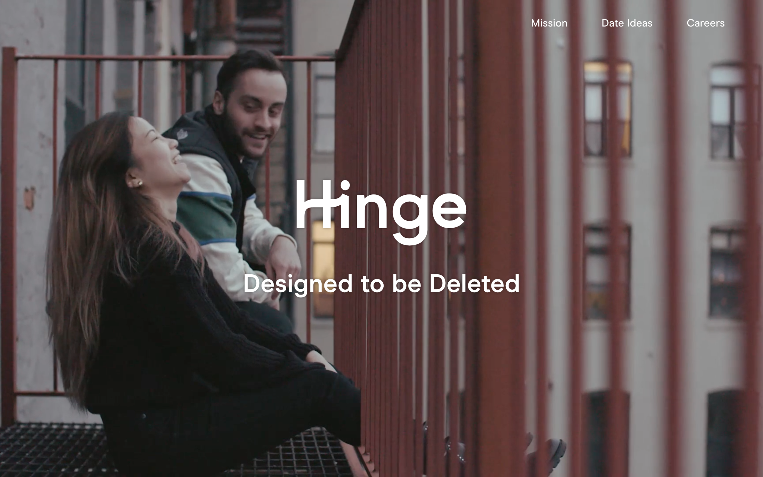 Website and App video for dating app, Hinge. Shot & edited by Sara Laufer.
