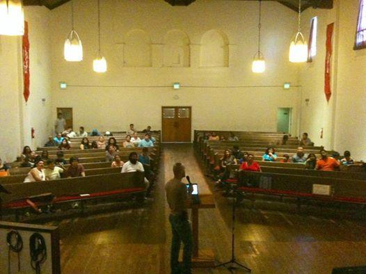 July 10 - SIREN leader Enrique Lopez delivering a Driver's License presentation to Nueva Generación en Cristo Church in San Jose.