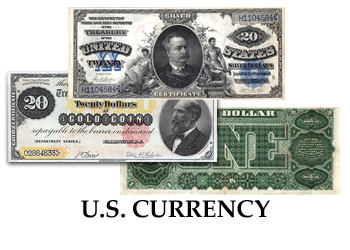 United States Currency - Federal Reserve Notes - Treasury Notes - Silver and Gold Certificates