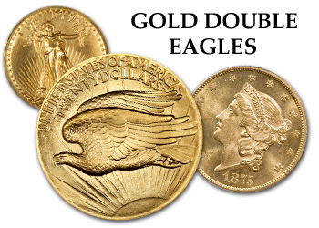 Liberty and Saint Gaudens Gold Double Eagles - $20 Gold Piece