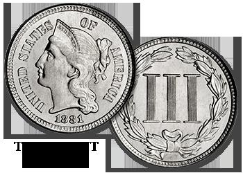 Three-Cent Nickels - 3c