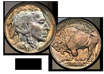 Buffalo Nickels - 5c