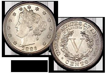 """Liberty """"V"""" Nickels - 5c"""