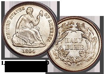 Liberty Seated Half Dimes - H10c