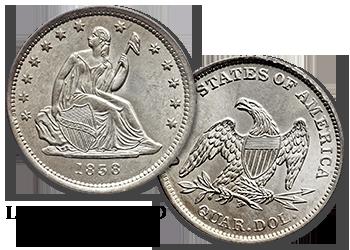 Liberty Seated Quarters - 25c