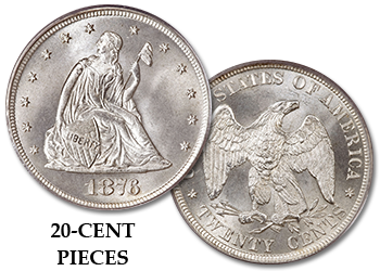 Liberty Seated Twenty-Cent Pieces - 20c