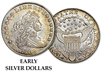 Early Silver Dollars - Flowing Hair and Bust Dollars - $1