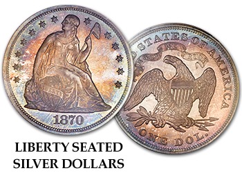 Liberty Seated Silver Dollars - $1